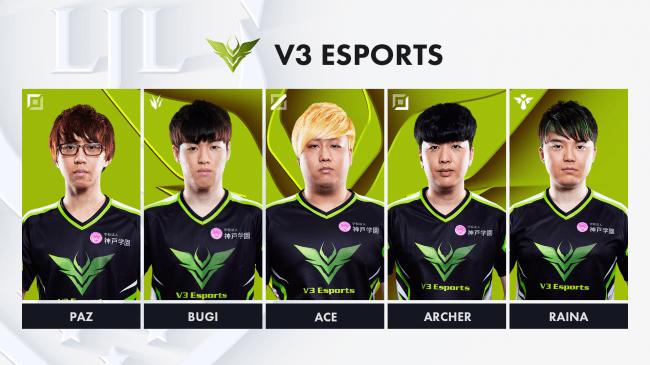 1位「V3 Esports(V3)」