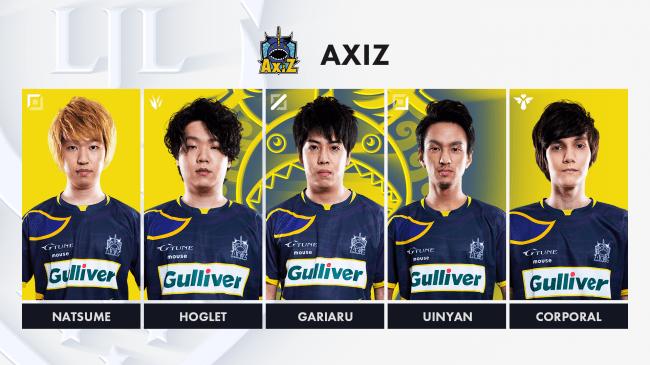 7位「AXIZ」(レギュラーシーズン敗退)