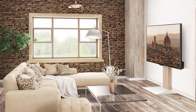工事不要!置くだけで壁掛けテレビのように設置!使い勝手は壁掛け以上!