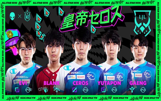 日本代表出場メンバー