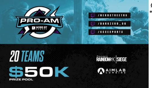 R6S Nerd Street Gamers× DarkZero Esportsが主催するプロアマ混合の大規模トーナメントが開催決定 賞金総額約540万円